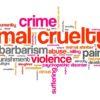 animal abuse word cloud